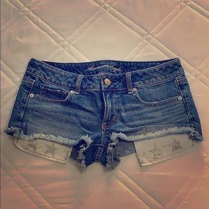 American Eagle Frayed Bottom Shorts